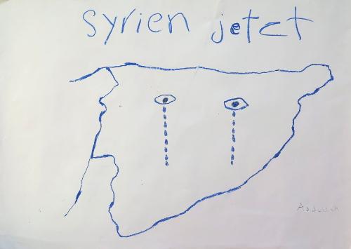 Zeig mir, woher Du kommst. Präsentation Syrischer Kinderzeichnungen